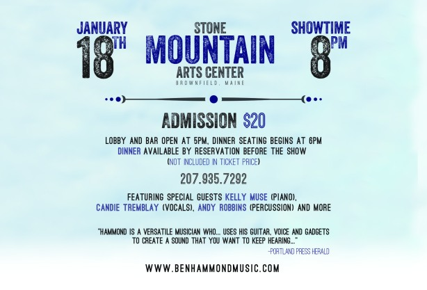 Flyer - Ben Hammond at Stone Mt Jan 18, 2014